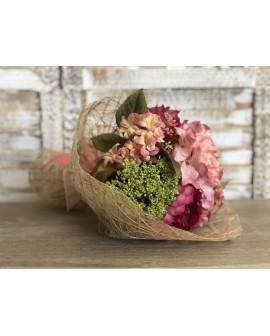 Ram artificial peonies i hortensies cirera