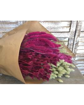 Pack flor seca fúcsia