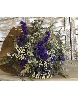 Ram de flor seca lila i blanc