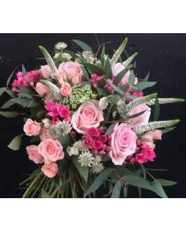 Ramo de novia de flores rosas Londres