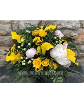 Ram de núvia blanc i groc Lhasa
